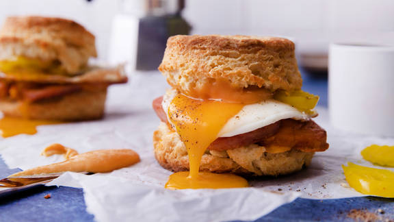 RECIPE: Spam, Egg, and Cheddar Biscuits with Homemade Mustard